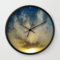 Pushing 'em away Wall Clock