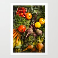 Mixed Organic Vegetables… Art Print