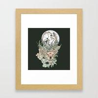 D E E R M O O N Framed Art Print