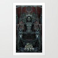 Triptych: Shakti - Black… Art Print