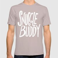 Snuggle Buddy X Pink Mens Fitted Tee Cinder SMALL