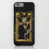 iPhone Cases featuring The Dark Faerie by Karen Hallion Illustrations