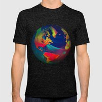 Fractal World Mens Fitted Tee Tri-Black SMALL
