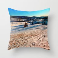 Smooth Hills In Winter W… Throw Pillow