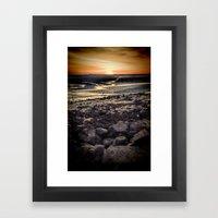 Rocky Sunset. Framed Art Print