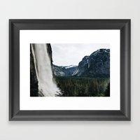 Lower Yosemite Falls Framed Art Print