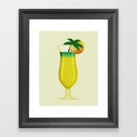 Garnish Sun Framed Art Print