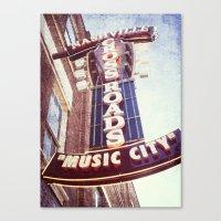 Music City Canvas Print