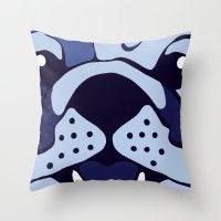 Bluedog Throw Pillow