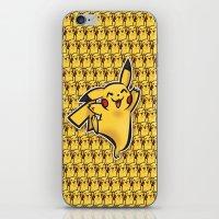 Pika chu Pocket Monsters Poke mon art Design Cute Pattern iPhone & iPod Skin
