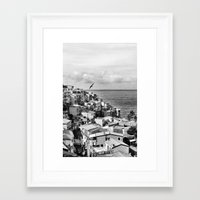 Cinque Terre BW Framed Art Print