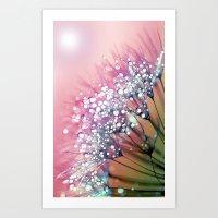 Rainbow Dandelion Art Print
