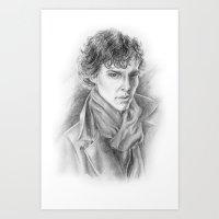 Sherlock Homles Art Print