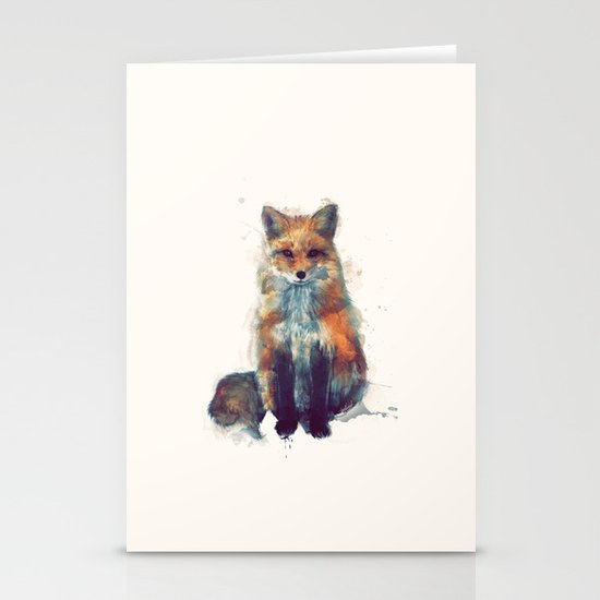 Fox Stationery Card