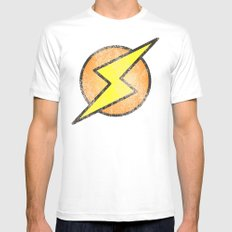 Flash lightning Mens Fitted Tee White SMALL