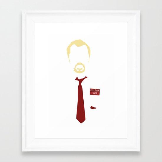 You've Got Red On You - Variant Framed Art Print