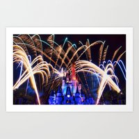 Walt Disney World Christmas Eve Fireworks Art Print