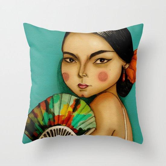 Lola Flores Throw Pillow