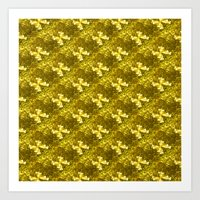 Golden Bows  Art Print