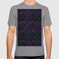 Midnight Rainbow Glitter Mens Fitted Tee Athletic Grey SMALL