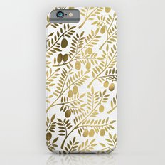Gold Olive Branches Slim Case iPhone 6s