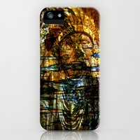 iPhone Cases featuring Indian chief  abstract  by Lo Coco Agostino