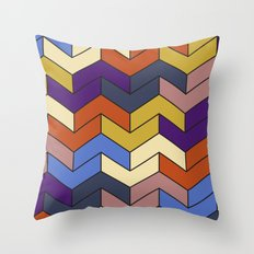 Geometric Chevrons Throw Pillow