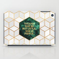 Though she be but little, she is fierce iPad Case
