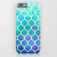 Emerald & Blue Marrakech Meander iPhone 6 Slim Case