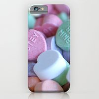 iPhone & iPod Case featuring Candy Hearts by Beach Bum Chix