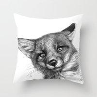 Fox Cub G139 Throw Pillow