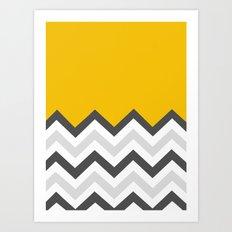 Color Blocked Chevron 17 Art Print