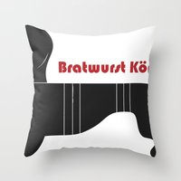 Bratwurst Körper  Throw Pillow