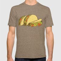 Tacos Mens Fitted Tee Tri-Coffee SMALL