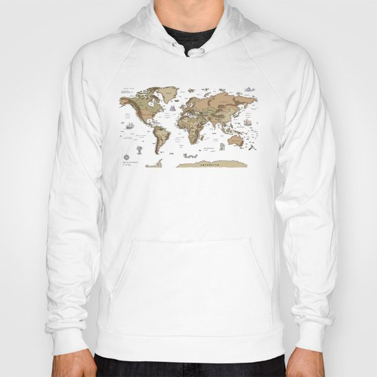 World Treasure Map Hoody