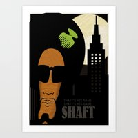 Shaft's is name. Shaft's his game Art Print