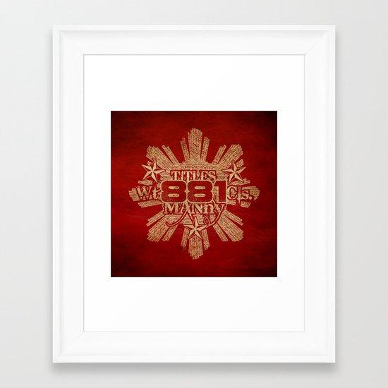 881 Framed Art Print