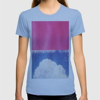 SKY/PNK Womens Fitted Tee Athletic Blue SMALL