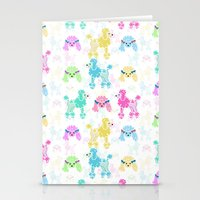 Pastel Poodles Stationery Cards