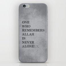 One Who Remembers Allah iPhone & iPod Skin