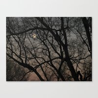 ghost moon Canvas Print