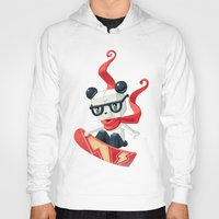 Hoody featuring Snowboarding by Freeminds