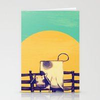 Cow Sunset Stationery Cards