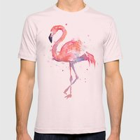 Flamingo  Mens Fitted Tee Light Pink SMALL