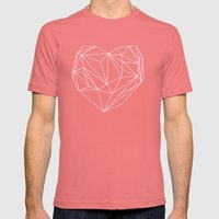 Heart Graphic Mens Fitted Tee Pomegranate SMALL