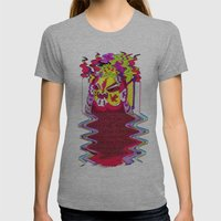 Fierce Samurai Womens Fitted Tee Athletic Grey SMALL