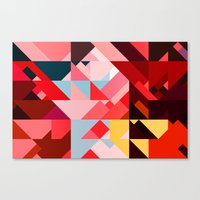 Triangle Color Canvas Print
