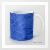 Deep Blue Marble Coffee … Art Print