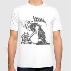 PSYKE Mens Fitted Tee White SMALL