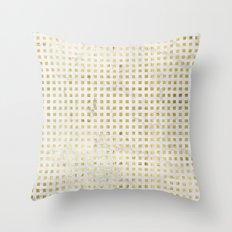 gOld squares Throw Pillow